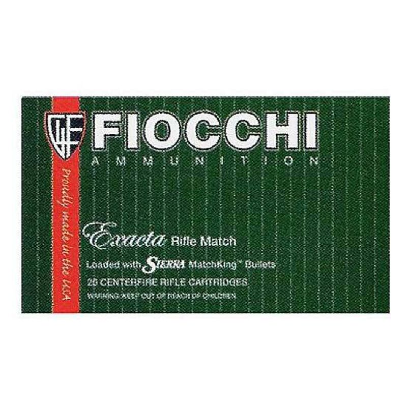 Fiocchi Exacta Match .223 Rem Ammunition 20 Rounds 77 Grain Sierrra Match King HPBT 2725 fps