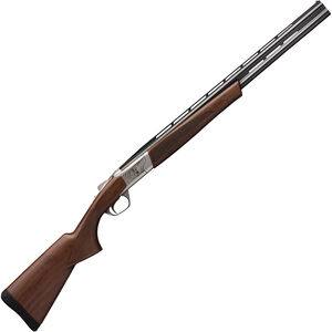 "Browning Cynergy Micro Midas 20 Gauge O/U Break Action Shotgun 24"" Barrels 2 Rounds 3"" Chamber Walnut Stock Silver Nitride/Blued Finish"