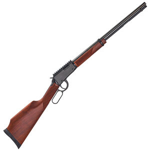 """Henry Magnum Express .22 WMR Lever Action Rifle 19.25"""" Barrel 11 Rounds No Sights Picatinny Rail Included American Walnut Forend/Stock Black Finish"""