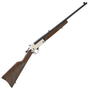 "Henry Repeating Arms Brass Single Shot Break Action Rifle .45-70 Government 22"" Barrel 1 Round Polished Brass Receiver Walnut Stock Blued Finish"