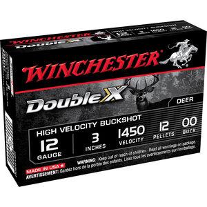 "Winchester Supreme 12 Gauge Ammunition 5 Rounds, 12 Pellets, #00 Buckshot, 3"""