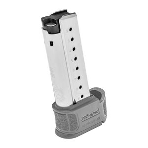 Springfield XD-S Mod 2 Magazine 9mm Luger 9 Rounds Gray Extension Stainless Steel