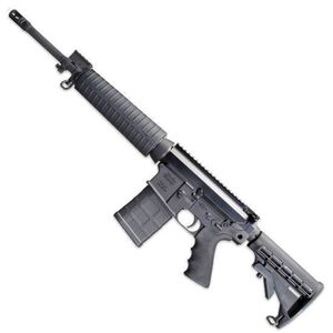 """Windham Weaponry SRC-308 Semi Auto Rifle .308 Winchester/7.62 NATO 16.5"""" Barrel 20 Rounds Mid-Length Polymer Handguard 6 Position Collapsible Stock Black R16FTT-308"""