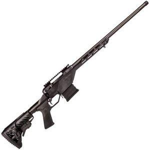 """Savage Arms 10 BA Stealth Bolt Action Rifle 6.5 Creedmoor 24"""" Barrel 10 Rounds Monolithic Billet Aluminum Chassis M-LOK Compatible Forend Picatinny Rail Matte Black"""