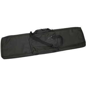 "Bob Allen Rectangular Tactical Rifle Case 42"" with External Storage Pocket Padded Synthetic Fabric Black"