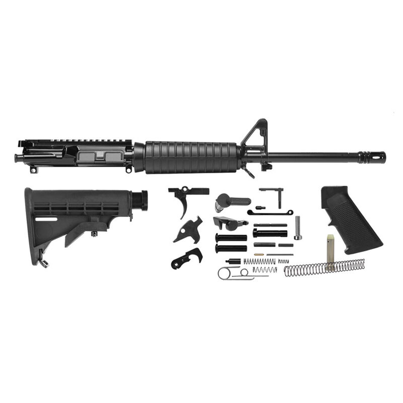 """Del-Ton AR-15 Build Kit 5.56 NATO 16"""" Barrel 1:8 Carbine Stock Black RKT123"""