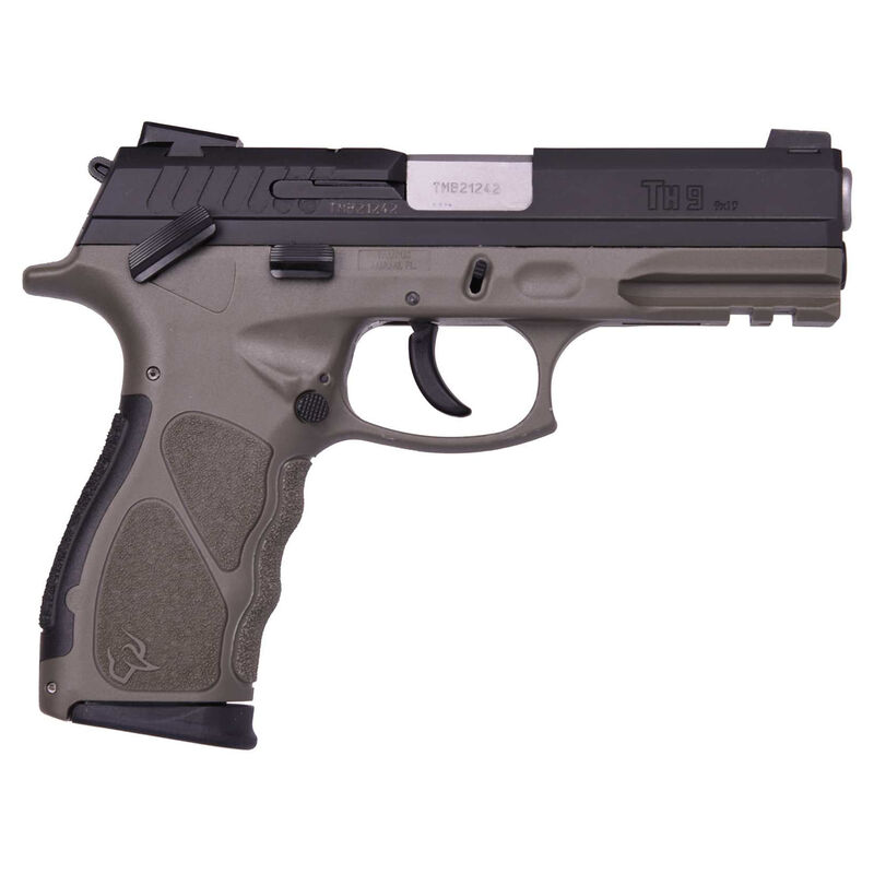 "Taurus TH9 9mm Luger Full Size Semi Auto Pistol 4.27"" Barrel 17 Rounds Novak Sights Polymer Frame OD Green Finish"