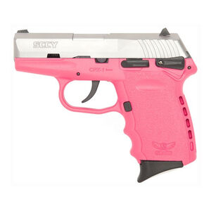 "SCCY Industries CPX-1 Semi Auto Pistol 9mm Luger 3.1"" Barrel 10 Rounds 3 Dot Sights Stainless Steel Slide Polymer Frame Pink Finish"