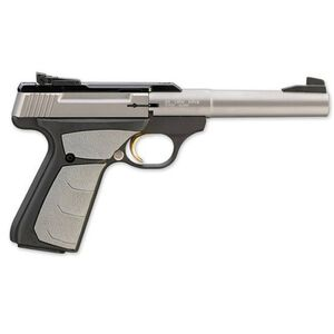 "Browning Buck Mark Camper Stainless UFX Semi Automatic Rimfire Pistol .22 Long Rifle 5.5"" Barrel 10 Rounds UFX Gray Overmolding Grip Matte Finish 051483490"