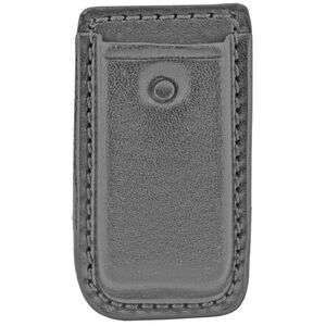 Don Hume Clip On Magazine Pouch for Single Stack Magazines Black Leather