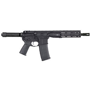 "LWRC DI AR-15 Semi Auto Pistol 5.56 NATO 10"" Barrel 30 Rounds Modular One Piece M-LOK Free Float Rail System Pistol Buffer Tube Matte Black"