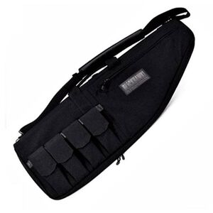 "BLACKHAWK! 37"" Rifle Case with External Mag Pouches Black 64RC37BK"