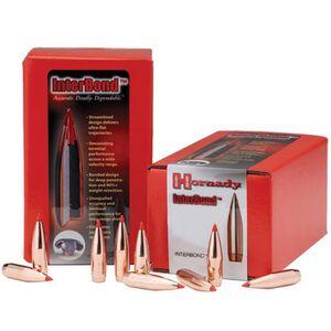 """Hornady 6.8mm Caliber .277"""" Diameter 130 Grain Interbond Polymer Tip Bullet 100 Count 27309"""