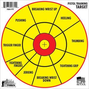 "Pro-Shot 12"" Splattershot Pistol Training Target Paper 6 Pack"