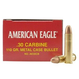 American Eagle .30 Carbine Ammunition 110 Grain FMJ Bullet 50 Rounds