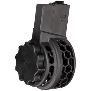 X Products X-25 AR-308 Skeletonized 50 Round LR-308/SR-25 Pattern Drum Magazine .308 Win/7.62 NATO/6.5 Creedmoor Low Profile Aluminum Cerakote Finish Black