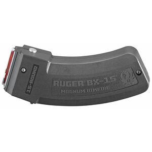 Ruger BX-15 Magnum 15 Round Magazine .17 HMR/.22WMR Polymer Matte Black Finish