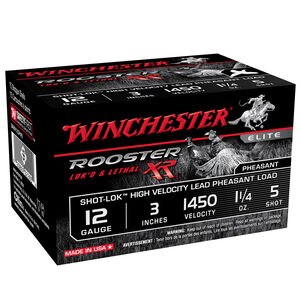 """Winchester Rooster XR 12 Ga 3"""" #5 Lead 1.5oz 15 Rounds"""