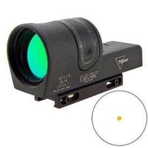 Trijicon 42mm Reflex Amber Sight 4.5 MOA Dot Reticle With Weaver Mount 1x Magnification Fiber Optic/Tritium Cast Aluminum Housing Matte Black