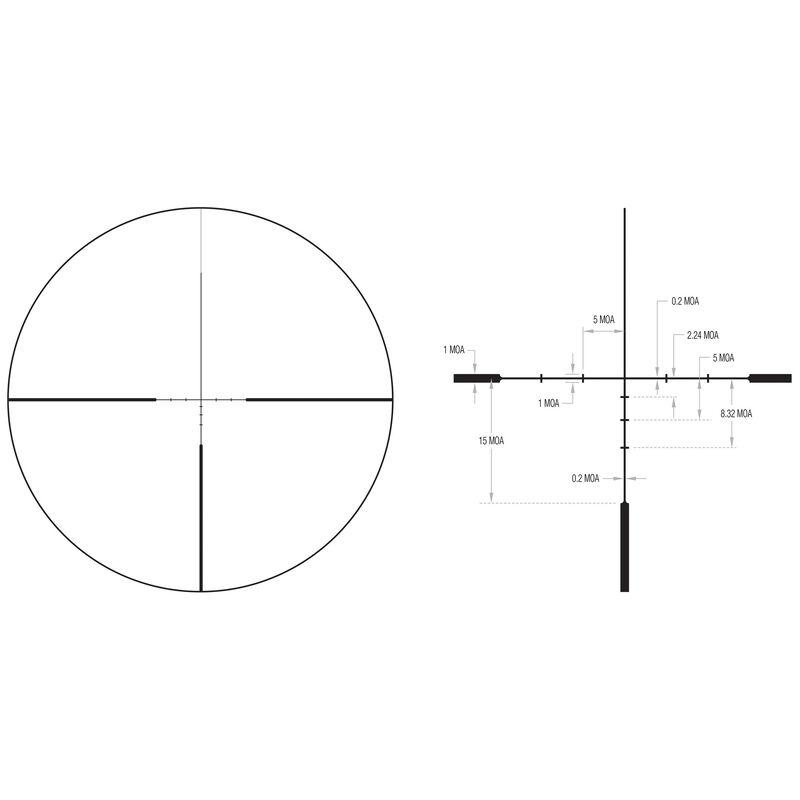 Trijicon Huron 3-12x40 Riflescope With BDC Hunter Hold Reticle MOA Adjustment 30mm Tube Black