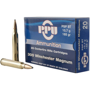 Prvi Partizan PPU Metric .300 Win Mag Ammunition 20 Rounds 165 Grain PSPBT 3050fps