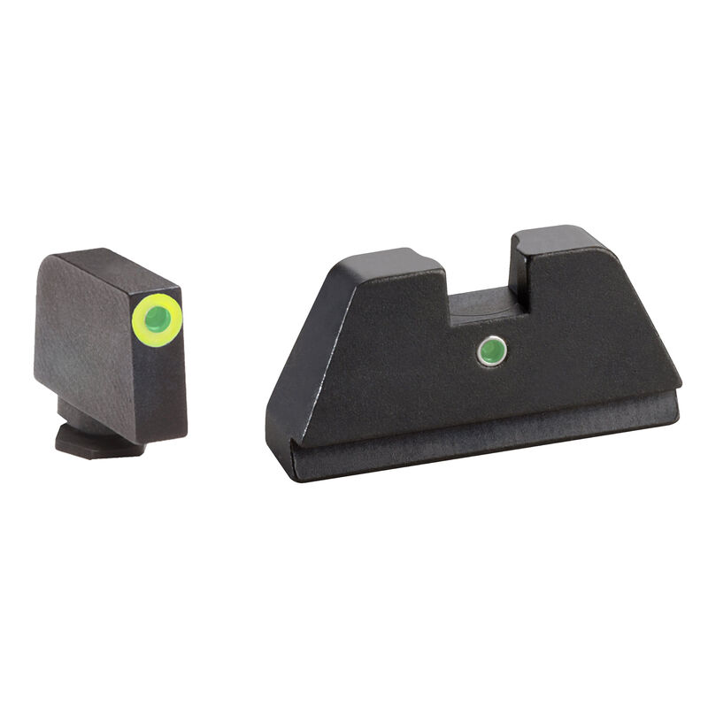 Ameriglo Tall Suppressor Sight Set  for GLOCK Green Tritium Front Dot with LumiGreen Outline and Green Tritium Rear Single-Dot