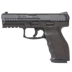 "HK VP9 Semi Auto Pistol 9mm Luger 4.09"" Barrel 10 Rounds Polymer Frame Black 700009LEL-A5"