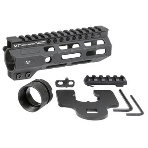 "Midwest Industries AR-15 Combat 6"" One Piece Free Float M-LOK Hand Guard 6061 Aluminum Hard Coat Anodized Matte Black"