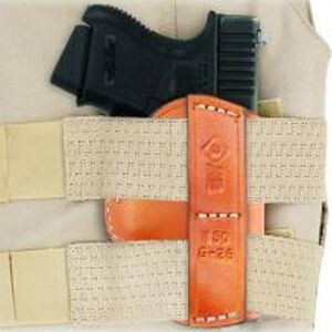 Aker Leather Right Handed Hideout Holster Leather Glock 26/27 Tan