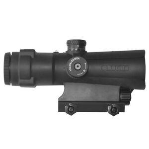 Lucid LLC P7 4X Weapon Optic P7 MOA Measuring Tape Reticle Picatinny Mount AA Battery Aluminum Frame Black L-4XP7