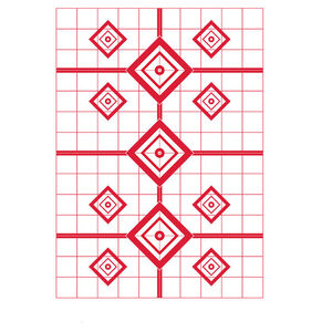 """Pro-Shot 23"""" X 35"""" 200 Yard Rifle Sight-In Target 5 Quantity Pack Red RSI-200YT-5PK"""