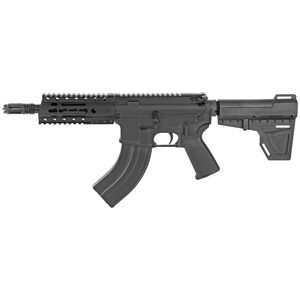 "Diamondback Firearms DB15 AR-15 7.62x39 Semi Auto Pistol 7"" Barrel 30 Rounds Free Float Hand Guard Shockwave Blade Stabilizing Brace Matte Black"