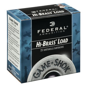 "Federal Game Shok Upland Hi-Brass Load 28 Gauge Ammunition 2-3/4"" #7.5 Lead Shot 1 Ounce 1220 fps"