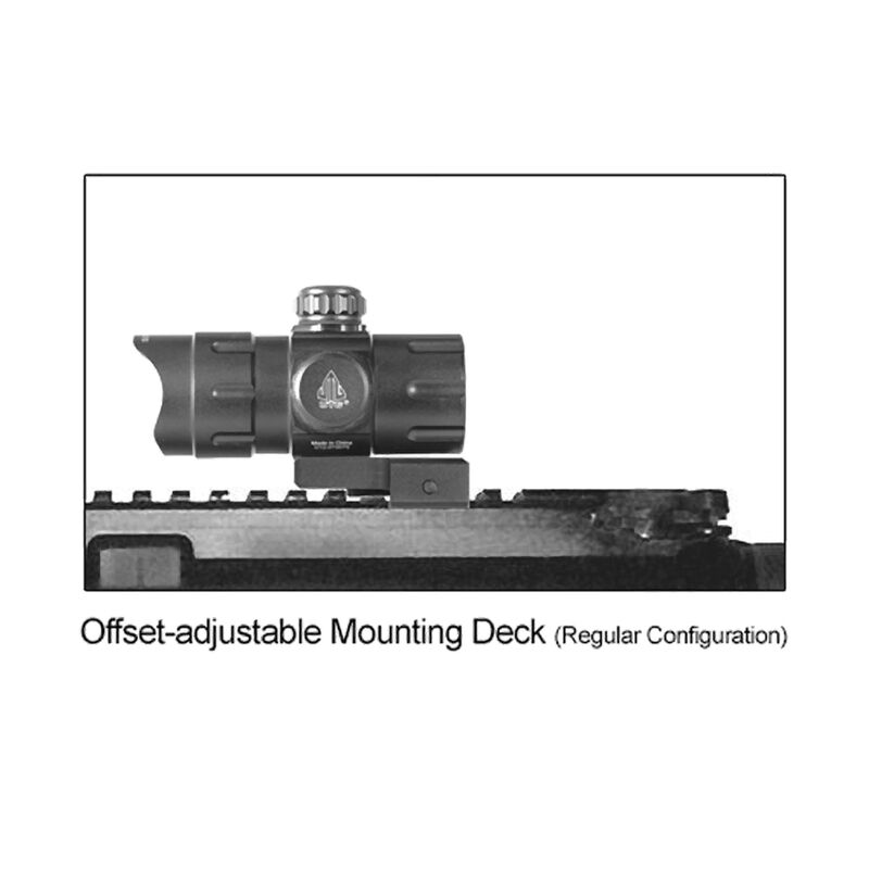 "Leapers UTG ITA Red/Green Dot Sight 4.2"" 4 MOA Dot QD Mount Flip Open Lens Caps SCP- DS3840W"
