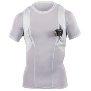 5.11 Tactical Men's Holster Crew Polyester/Spandex Shirt 2 Extra Large White 40011