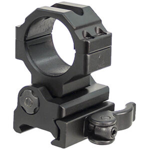 "Leapers UTG 30mm Flip-to-Side QD Ring Mount 27mm and 1"" Diameter Inserts 40mm Center Height Picatinny/Weaver Mount Aluminum Black RG-MF30QS"