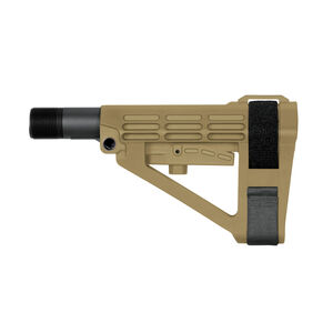 SB Tactical SBA4 Pistol Stabilizing Brace Complete Mil-Spec Kit Adjustable Flat Dark Earth