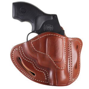 1791 Gunleather RVH-1 OWB Belt Holster for J-Frame Revolvers Right Hand Draw Leather Classic Brown