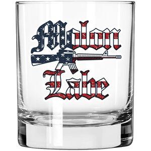 2 Monkey Trading Lucky Shot USA Molon Labe Patriotic Label Whiskey Glass