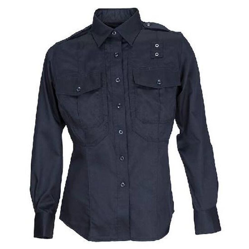 5.11 Tactical Women's PDU Long Sleeved Shirt Twill Small Regular Black 62065