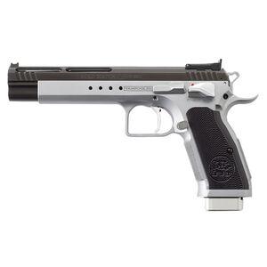 "EAA Tanfoglio Witness Match Xtreme 10mm Auto Semi Auto Pistol 6"" Barrel 14 Rounds Duo-Tone Silver/Black Ceramic Coating"