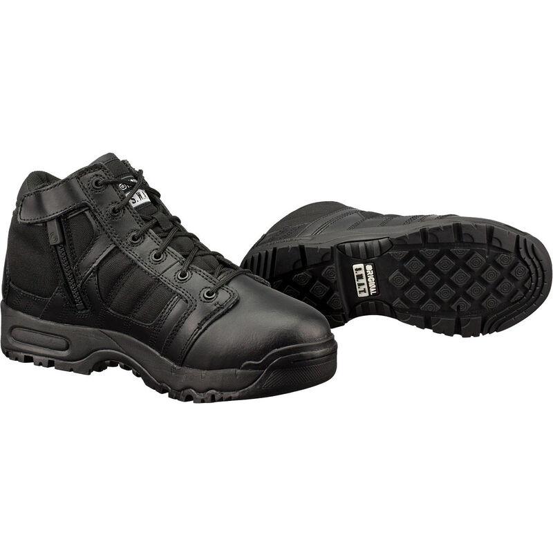 "Original S.W.A.T. Metro Air 5"" Side Zip Men's Boot Size 10 Regular Non-Marking Sole Leather/Nylon Black 123101-10"