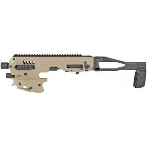 CAA Micro Roni MCK Gen 2 Conversion Kit Fits GLOCK 17/19 Gen 3-5 Chassis Pistol Brace Tan