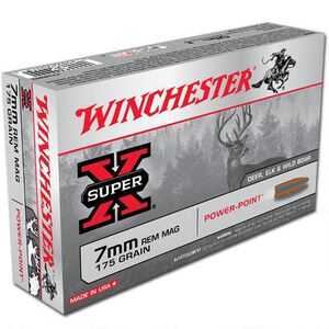 Winchester Super X 7mm Remington Magnum Ammunition 20 Rounds JSP 175 Grains X7MMR2