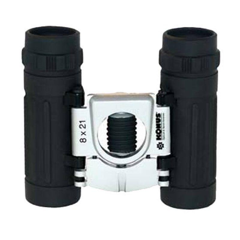 Konus Basic 8x21 Binoculars Roof Prism Rubber Coated Body Ruby Coated Optic Central Focus Black 2007