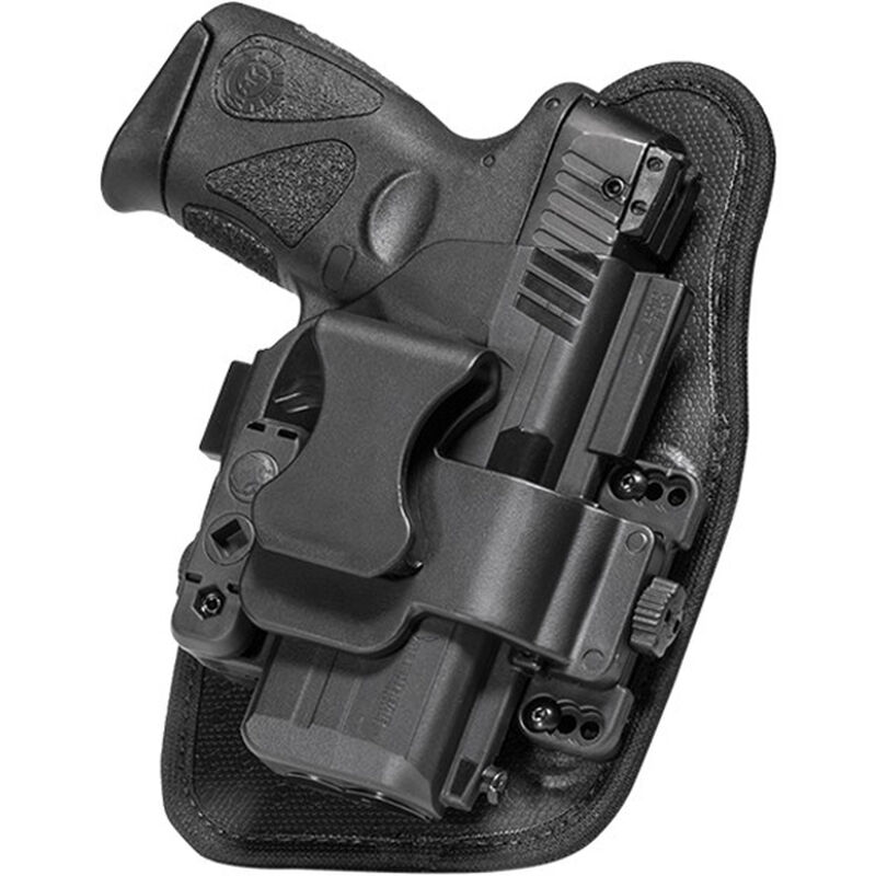 """Alien Gear ShapeShift Appendix Carry Springfield XD with 4"""" Barrel IWB Holster Right Handed Synthetic Backer with Polymer Shell Black"""