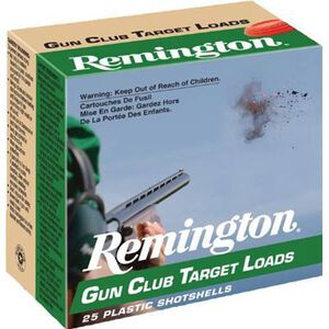 "Ammo 20 Gauge Remington Gun Club Target Loads 2-3/4"" #9 Lead 7/8 Ounce 1200 fps 250 Rounds GC209"