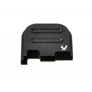 Strike Industries GLOCK Slide Cover Plate Fits GLOCK 43 Only V2 Button Aluminum Black SI-GSP-G43-V2-BK