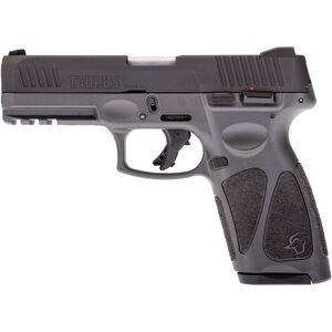 "Taurus G3 9mm Luger Semi Auto Pistol 4"" Barrel 17 Rounds Single Action with Restrike 3-Dot Sights Thumb Safety Two Tone Gray Polymer Frame Black Finish"