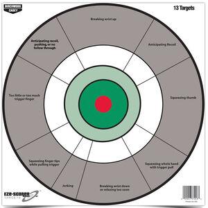 "Birchwood Casey Eze-Scorer 12 Inch Handgun Trainer Target Paper Target 12""x12"" Multicolor 13 Pack"